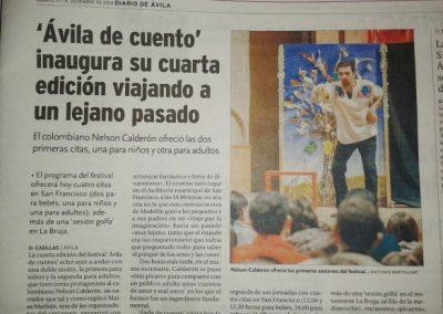 Diario de Ávila. 2014