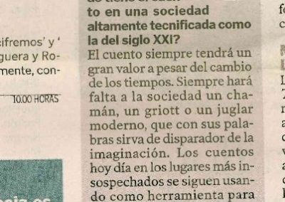 Diario de Las Palmas. 2012