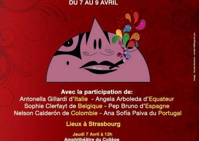 Festival De ouche à oreille et de boca en boca. Estrasburgo, Francia. 2016